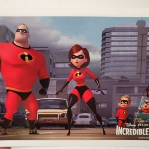 Disney The Incredibles 2 Collectible Lithograph